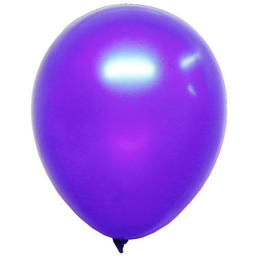 "12"" Purple Pearlized Latex Balloons, 10 Count - 1"