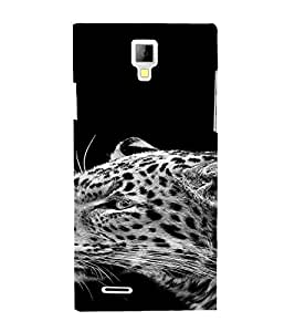 PrintVisa Animal Leopard Design 3D Hard Polycarbonate Designer Back Case Cover for Micromax Canvas Xpress A99