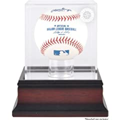 Seattle Mariners Mahogany Baseball Logo Display Case by Mounted Memories