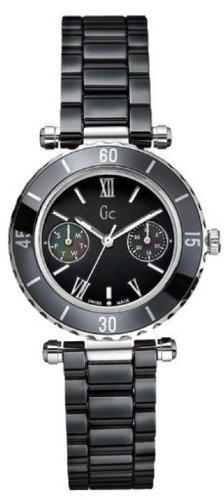 Guess G35003L2S - Reloj para mujeres, correa de cerámica color negro