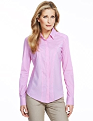 M&S Collection Striped No Peep™ Shirt