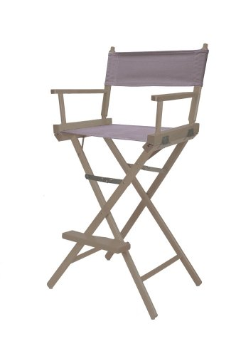 Telescope Casual Heritage Bar Height Director Chair, Rustic Grey Finish With Grey Canvas Fabric