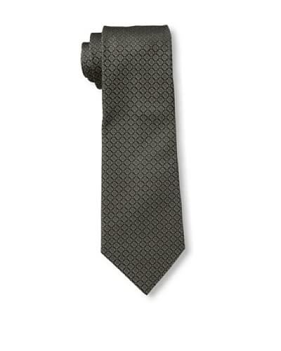 Valentino Men's Circles Tie, Charcoal/Brown