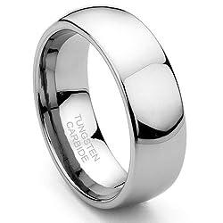 Men's Tungsten Carbide Wedding Ring Sz 7.0 SN#289