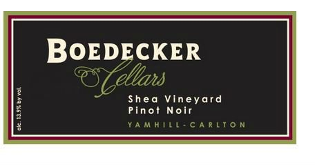 2011 Boedecker Cellars Shea Vineyard Yamhill-Carlton Pinot Noir 750 Ml