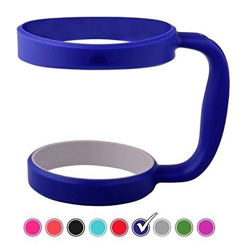ROYAL BLUE 30oz Tumbler Handle For YETI, RTIC, OZARK, STRATA,and Other Ramblers Cups - No Slip Grip - BPA FREE