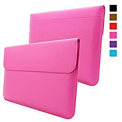 Snugg Surface Pro 3 Case - Leather Sleeve with lifetime guarantee (Magenta) for Microsoft Surface Pro 3