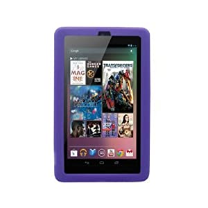 Google Nexus 7 Tablet Silicone Skin Case Gel Cover - Purple