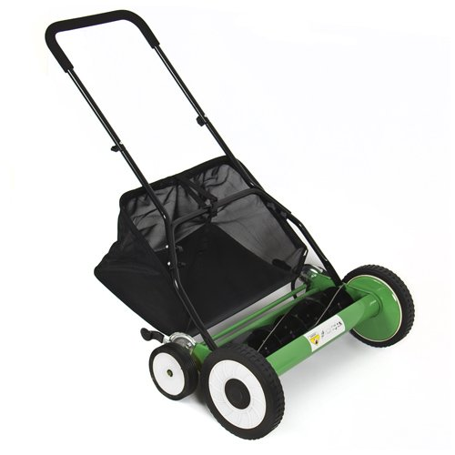 Best Choice Products SKY1245 Classic Hand Push Reel Lawn Mower with Grass Catcher, 20