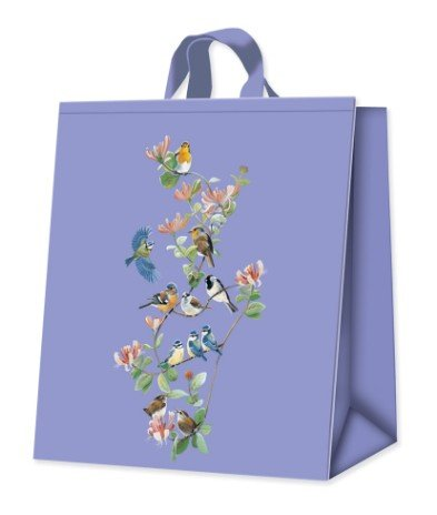 Honeysuckle Wild Birds Shopping Bag