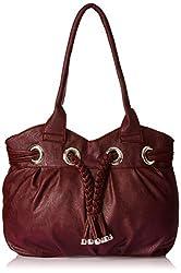 Meridian Women's Handbag Maroon Mrb-007
