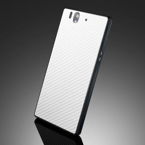 国内正規品SPIGEN SGP Sony Xperia Z SO-02E スキンガード [カーボン・ホワイト] SGP10151