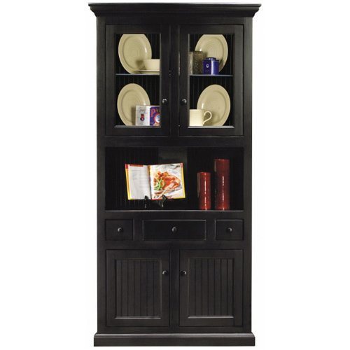 industries 72204plbk corner dining hutch buffet black hutch buffet