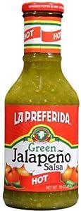 La Preferida Green Jalapeno Salsa Hot 16-ounce Pack Of 12 by Geneva Supply - Grocery
