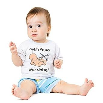 Funshirt Spaßshirt T-Shirt Baby Papa war dabei Gr.56-62