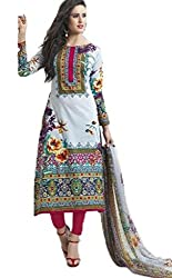 Vivacity Women's Cotton Unstitched Dress Material (Shehnaz-06_Multi_Free Size)