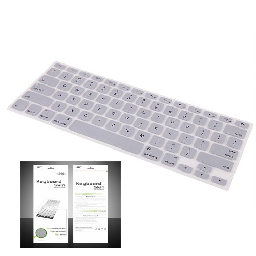 "Smart Tech ® Ultra Thin Silicone Keyboard Cover Skin For Apple Macbook Air 11.6""(Model:A1370 And A1465) (Keyboard Cove+Silver)"
