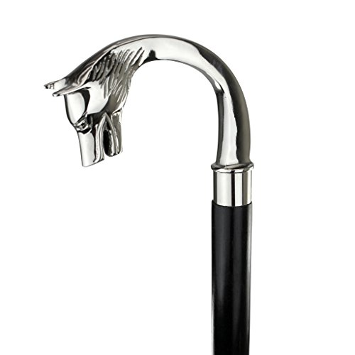 Design Toscano Empress Collection Majestic Wolf Solid Hardwood Walking Stick