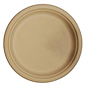 Unbleached Brown Kraft Hot Cups 8oz - 50 Disposable Paper Cups |Wheat Paper Plates