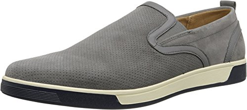 Cole Haan Men's Quincey Slip-On II Pewter Perf Suede Sneaker 11 D (M) (Cole Haan Mens Grey Shoes compare prices)