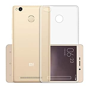 Real Shopping Perfect Fitting High Quality 0.3mm Ultra Thin Transparent Silicon Back Cover For Xiaomi Redmi 3s Prime