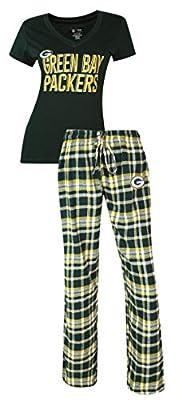 Green Bay Packers NFL Women's Shirt and Pajama Pants Sleep Set
