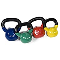 j/fit Vinyl Kettlebell Set – 8-15 lbs.