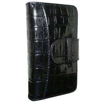 Best Price Apple iPhone 5 / 5S Piel Frama Black Crocodile Leather Wallet