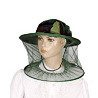 Como Green Camouflage Pattern Cap Mesh Net Hood Anti Mosquito Nylon Fishing Hat from Como