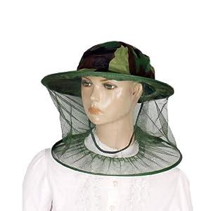 Amazon.com : Green Camouflage Pattern Cap Mesh Net Hood Anti Mosquito
