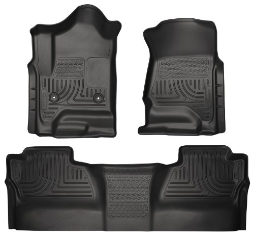 Full Set Husky Liners Weatherbeater All Weather Custom Fit Floor Mat Liner for 2015 Chevy Silverado 1500 Crew Cab (Husky Floor Mats Chevy Silverado compare prices)