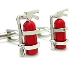 Fun Fire Extinguisher Cufflinks Gift Boxed