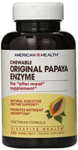 American Health Chewable Multi-Enzymes, Original Papaya, 250 Count
