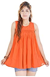Shop Avenue Women's A-Line Dress (Orange )