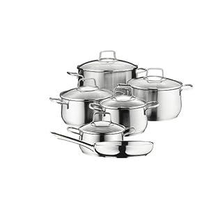 Wmf 0739166030 cromargan batterie de cuisine set de 6 for Set cuisine inox