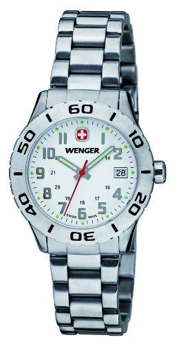 Wenger 01.0721.102 - Orologio da polso donna, acciaio inox, colore: argento