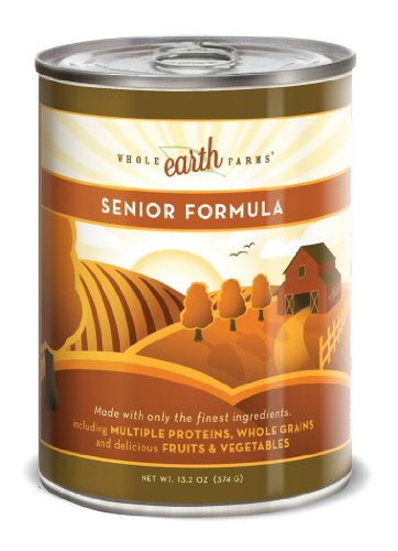 Merrick Whole Earth Farms Senior Chunky Loaf Dog Food, 13.2 Ounce Can (12 Pack)