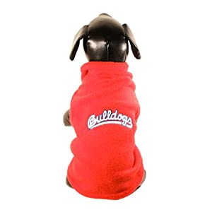 NCAA Fresno State Bulldogs Sleeveless Polar Fleece Dog Sweatshirt, Small by All Star Dogs