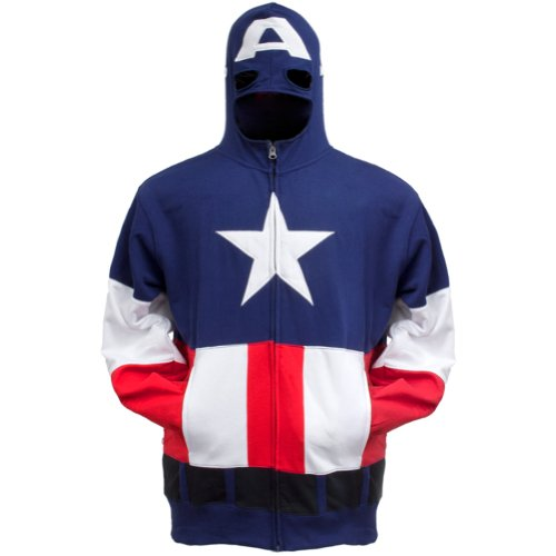 Captain America - Boys Cap A Youth Costume Zip Hoodie
