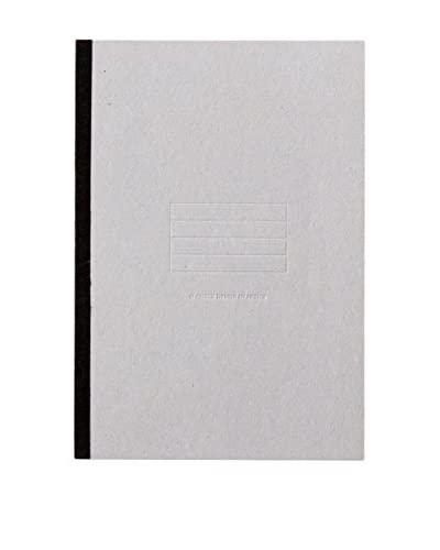 O-Check Design Graphics Medium Lined Free Notebook, Grey
