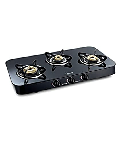 Crystal Curve 3 Burner Gas Cooktop
