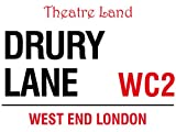 DRURY LANE THEARTRE LAND WC2 WEST END LONDON STREET SIGN METAL STEEL ADVERTISING WALL SIGN