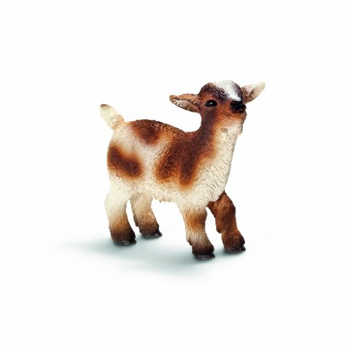 Schleich Dwarf Goat Kid Toy Figure - 1