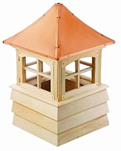 Good Directions 2154G Wood Guilford Window Cupola with Pagoda Style Copper Roof and Shiplap Base, 54-Inch Square 85-Inch High