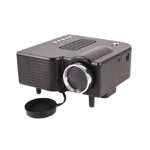 US Plug 16770K 400 Lumens HD LCD Gaming LED Projector Black For DVD