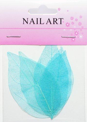 ドライリーフ ブルー #2 ネイルアートの模様付け用 押し葉 押し花