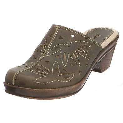 Amazon.com: Bass Women's Brenda Clog,Green,6 M: Shoes