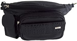 del rio Leathers Black Waist Bag DR193302 -From Costa Rica