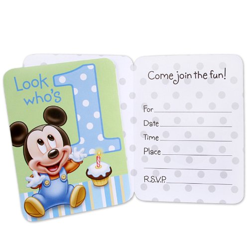 Hallmark Mickey's 1st Birthday Invitations - 8 ct - 1