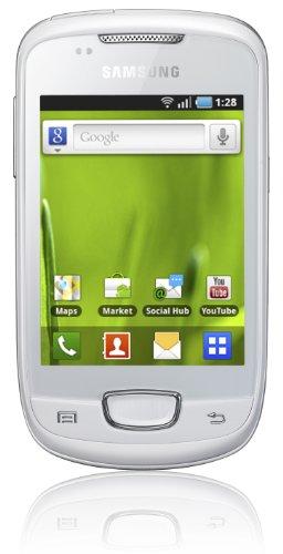 Samsung Galaxy Mini S5570 Smartphone (8,1 cm (3,2 Zoll) Display, Touchscreen, 3 Megapixel kamera, Android OS) weiß